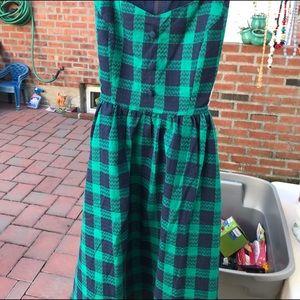 Mod Cloth Green Plaid Dress Size XS NEW